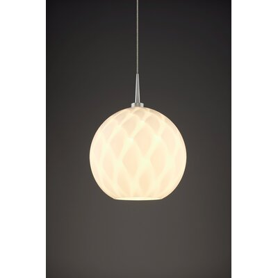 Sirena 1-Light Mini Pendant Color: Matte Chrome, Shade Color: White