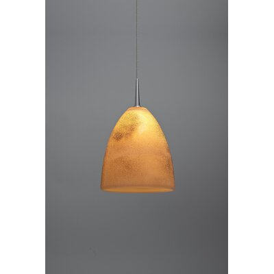 Alexander 1-Light  Monopoint Mini Pendant Shade Color: Creme, Finish: Matte Chrome
