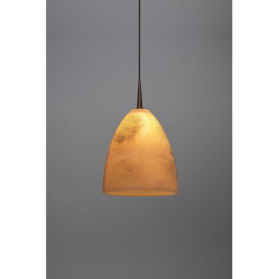 Alexander 1-Light  Monopoint Mini Pendant Color: Bronze, Shade Color: Creme