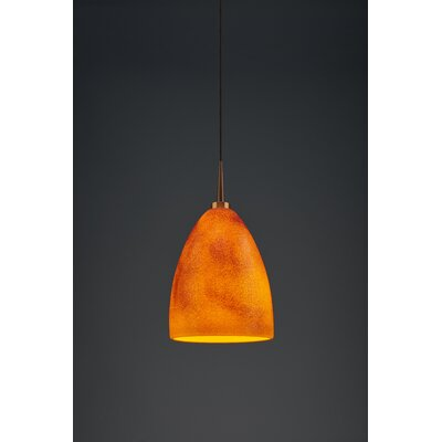 Alexander 1-Light  Monopoint Mini Pendant Finish: Bronze, Shade Color: Tangerine