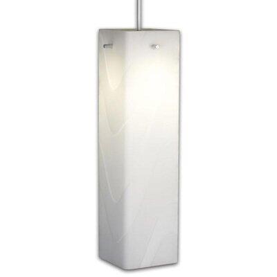 Houston 1-Light Mini Pendant Color: Matte Chrome, Shade Color: White