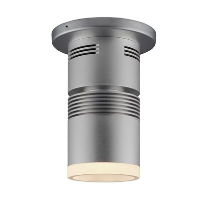 Z15 1-Light Flush Mount with a 40 Degree Diffuse Reflector, 3000K, 935 Lumens, 98 CRI, and 14.5 W Color: Matte Chrome