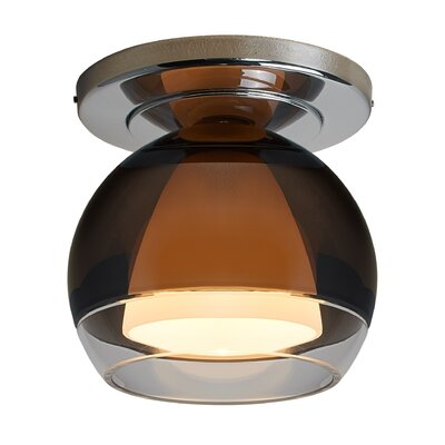 Matrix 1-Light Flush Mount Color: Bronze