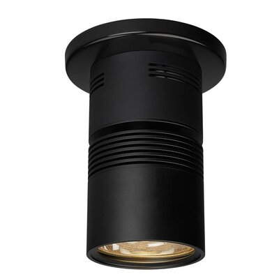 Z15 1-Light Flush Mount with a 40 Degree Diffuse Reflector, 3000K, 1360 Lumens, 98 CRI, and 17W Color: Black