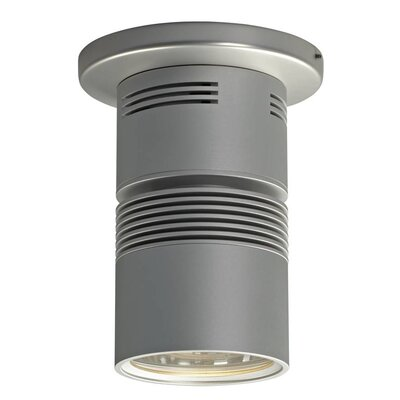 Z15 1-Light Flush Mount with a 40 Degree Diffuse Reflector, 3000K, 1360 Lumens, 98 CRI, and 17W Color: Matte Chrome