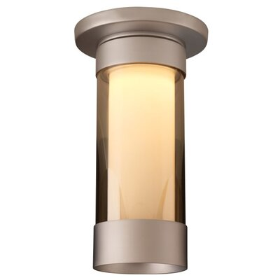 Silva 1-Light Flush Mount Finish: Matte Chrome, Shade Color: Smoky