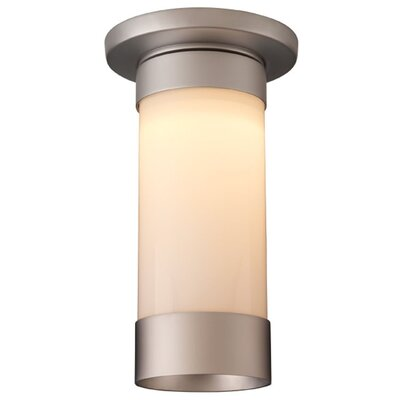 Silva 1-Light Flush Mount Color: Matte Chrome, Shade Color: White
