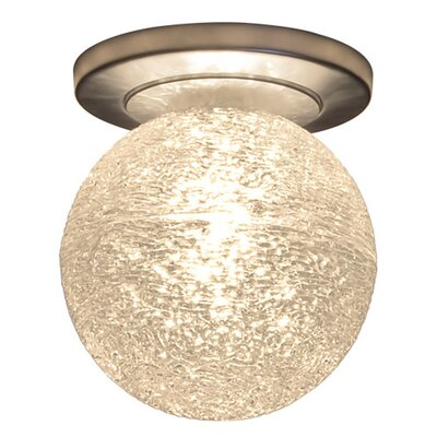 Dazzle 1-Light Flush Mount Finish: Matte Chrome, Shade Color: Clear