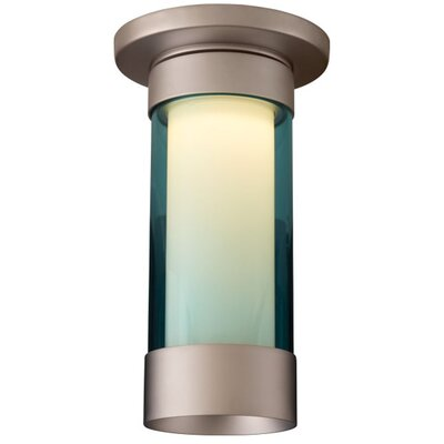 Silva 1-Light Flush Mount Finish: Matte Chrome, Shade Color: Turquoise