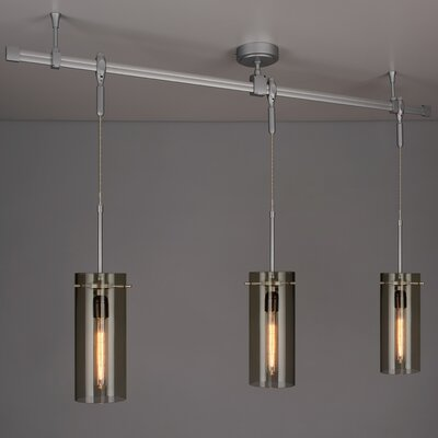 Zonyx 3-Light Kitchen Island Pendant Shade Color: Smoky