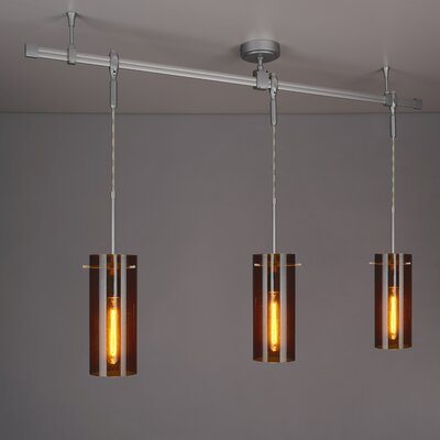Zonyx 3-Light Kitchen Island Pendant Shade Color: Bourbon