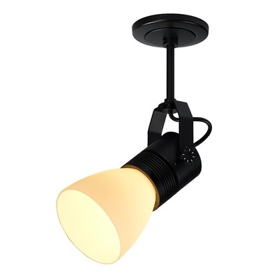 Z15 1-Light 1600 Lumen Spotlight Base Color: Black, Shade Color: Blue