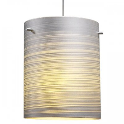 Regal 1-Light Pendant Color: Bronze, Dimmer Switch: No, Glass Color: Silver