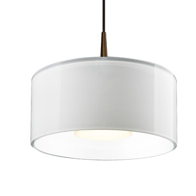 Hebron 1-Light Drum Pendant Finish: White