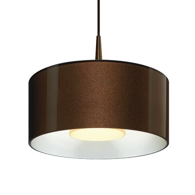 Hebron 1-Light Drum Pendant Finish: Bronze/Silver