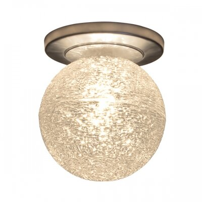 Dazzle I Semi-Flush Mount Ceiling Light Color: Matte Chrome, Shade Color: Black, Light Source: 12V Halogen
