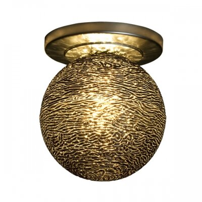 Dazzle I Semi-Flush Mount Ceiling Light Finish: Bronze, Light Source: 12V Halogen, Shade Color: Black