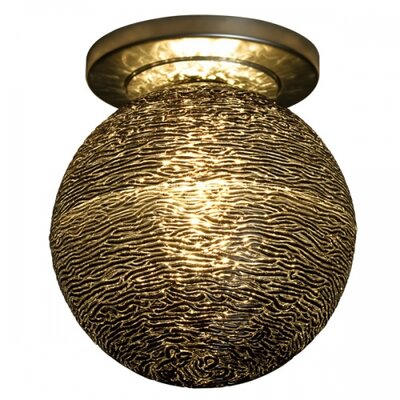 Dazzle II Semi-Flush Mount Color: Bronze, Bulb Type: Halogen, Shade Color: Black