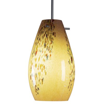 Soho 1-Light Mini Pendat Color: Chrome, Shade Color: Sea Shell