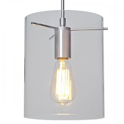 London 1-Light Mini Pendant Color: Chrome, Shade Color: Clear
