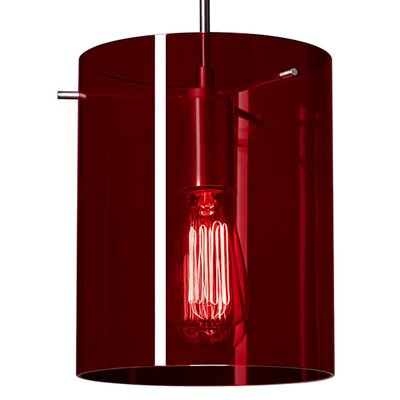 London 1-Light Mini Pendant Color: Matte Chrome, Shade Color: Red