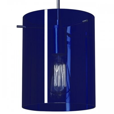 London 1-Light Mini Pendant Finish: Matte Chrome, Shade Color: Blue