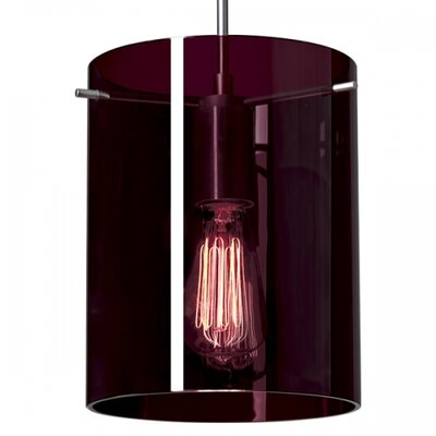 London 1-Light Mini Pendant Finish: Matte Chrome, Shade Color: Amethyst