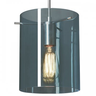 London 1-Light Mini Pendant Color: Chrome, Shade Color: Aqua