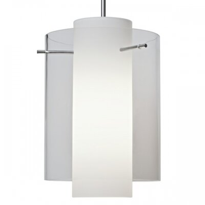 Rome 1 LED Integrated Bulb Mini Pendant Shade Color: Clear, Finish: Chrome