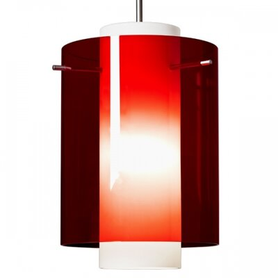 Rome 1 LED Integrated Bulb Mini Pendant Color: Chrome, Shade Color: Red