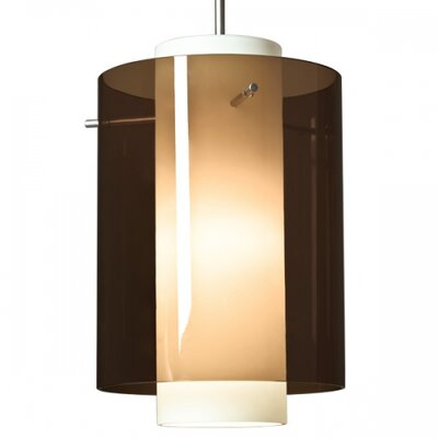 Rome 1 LED Integrated Bulb Mini Pendant Color: Chrome, Shade Color: Bourbon