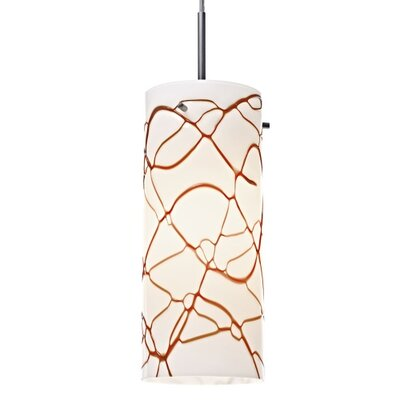 Luca 1-Light Mini Pendant Finish: Bronze, Shade Color: Latte