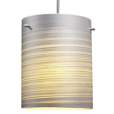 Regal 1-Light Drum Pendant Color: Bronze, Shade Color: White