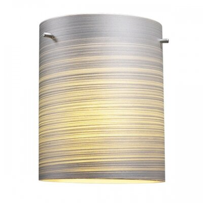 Regal 1-Light Drum Pendant Color: Bronze, Shade Color: Silver