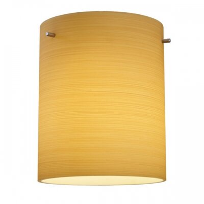 Regal 1-Light Drum Pendant Finish: Matter Chorme, Shade Color: Merlot