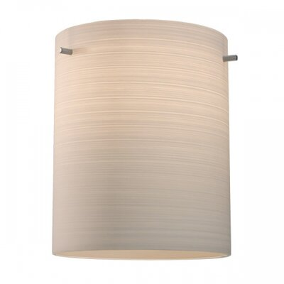 Regal 1-Light Flush Mount Fixture Color: Chorme, Shade Color: Brown