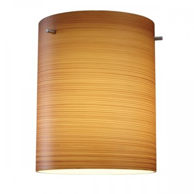 Regal 1-Light Drum Pendant Finish: Matter Chorme, Shade Color: Brown