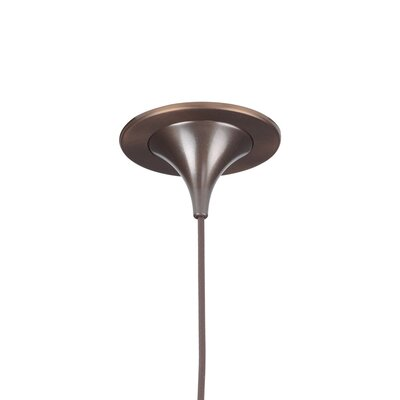 Ciro 1-Light Mini Pendant Color: Bronze, Mounting: 2 Kiss Canopy