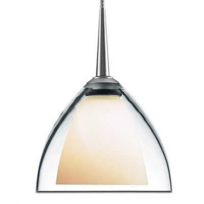Rainbow 1-Light Mini Pendant Finish: Chrome, Shade Color: Clear