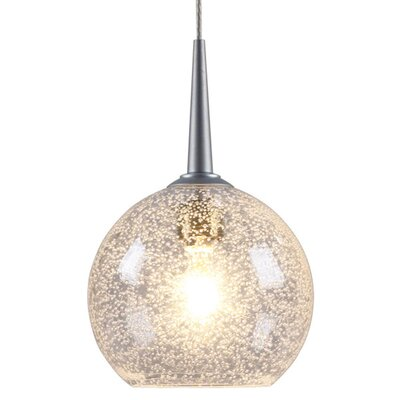 Bobo 1-Light Globe Pendant Color: Chrome, Shade Color: Clear