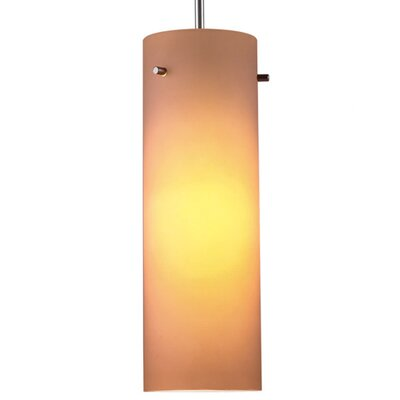 Titan 1-Light Mini Pendant Color: Chrome, Shade Color: Amber, Bulb Type: Incandescent