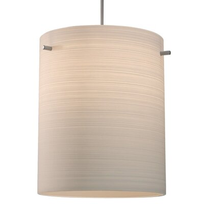 Regal 1-Light Drum Pendant Color: Chorme, Shade Color: White