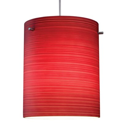Regal 1-Light Semi flush mount Shade Color: Merlot