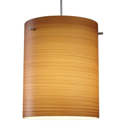 Regal 1-Light Drum Pendant Color: Matter Chorme, Shade Color: Brown