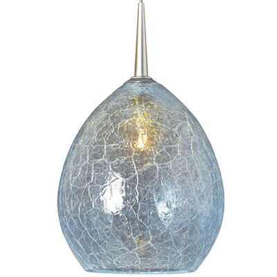 Vibe 1-Light Globe Pendant Finish: Bronze, Shade Color: Glacier
