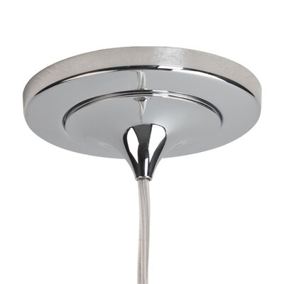 Delta 1-Light Bowl Pendant Color: Chrome, Shade Color: Amber, Mounting: 4 Kiss Canopy