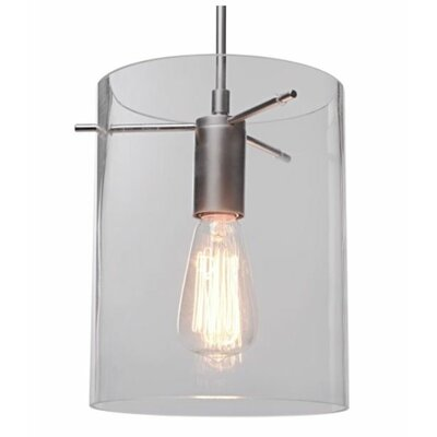 London 1-Light Monopoint Pendant Color: Chrome, Shade Color: Red