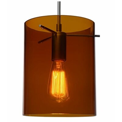 London 1-Light Monopoint Pendant Finish: Matte Chrome, Shade Color: Bourbon