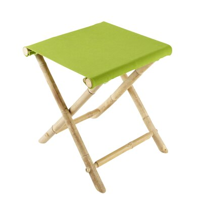 Bamboo Indoor / Outdoor Folding Stool Color: Green CH-191-0-05