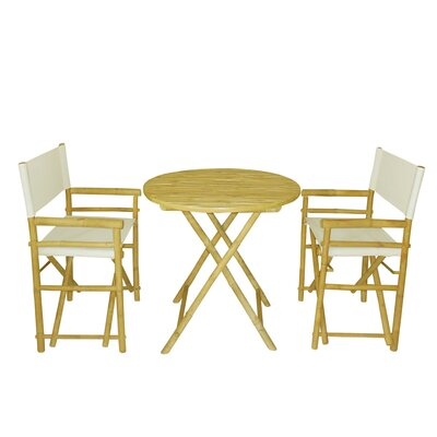 Bamboo 3 Piece Bar Set Color: White